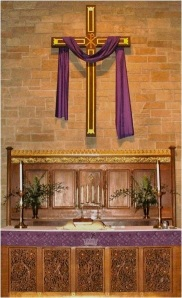 Lenten Altar & Cross