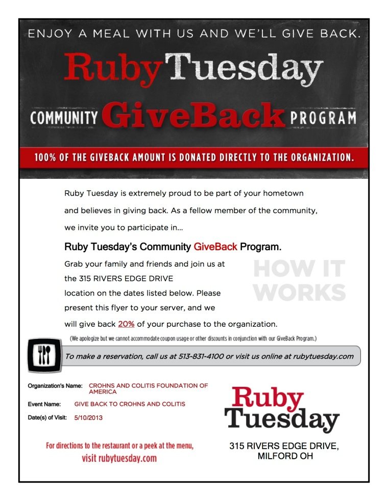 ruby tuesday flyer