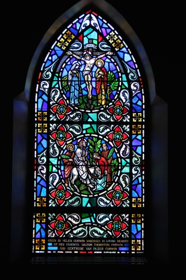 This window is found in the Nave, and serves as a basis for a similar design in the Hearth Room.