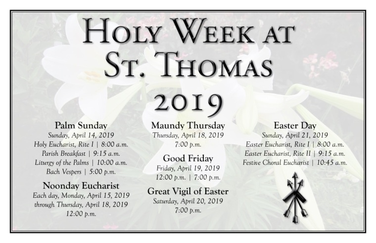 2019 Holy Week Landscape